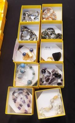 10x Boxed sets of hand made jewellery