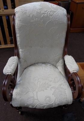 Victorian carved nursing chair
