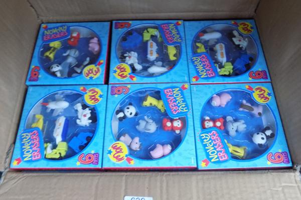 24 packs of six novelty erasers
