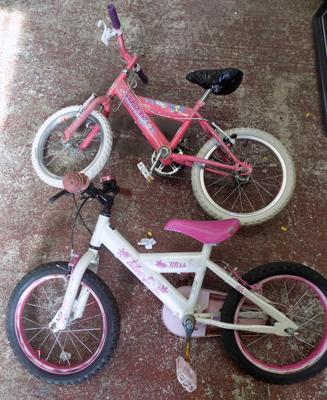 Two girl's bikes