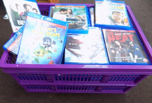 Box of blue-ray DVDs