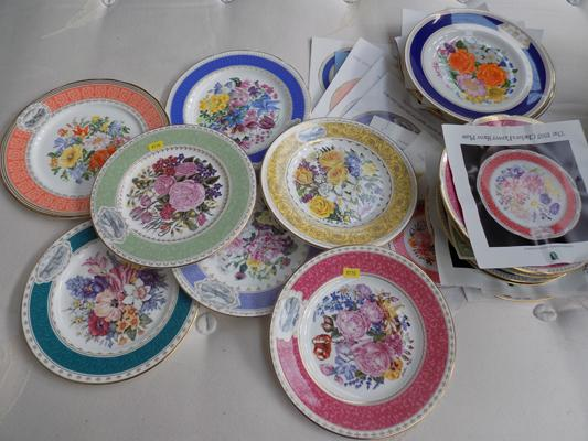 Wide selection of souvenir plates with certificates
