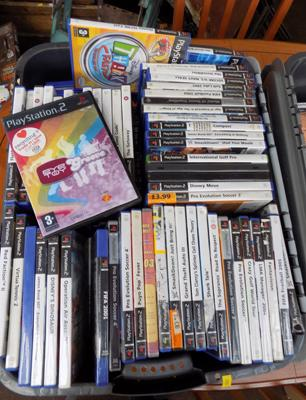Large tub of PS2 games