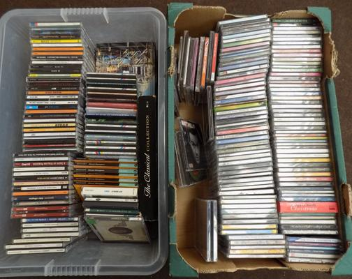 2x Boxes of mixed CD's