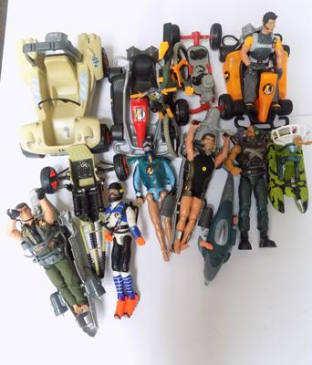 Large selection of action men & vehicles