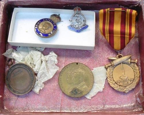 Selection of badges & medals-WWII