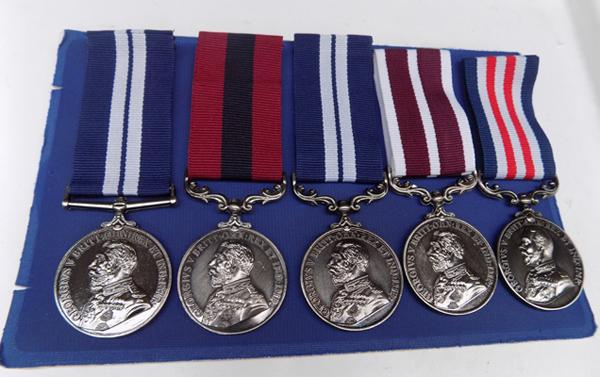 5 replacement George V medals