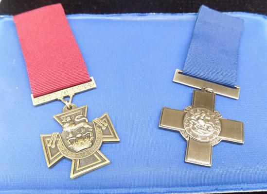 Copy of Valour medal and gallant medal