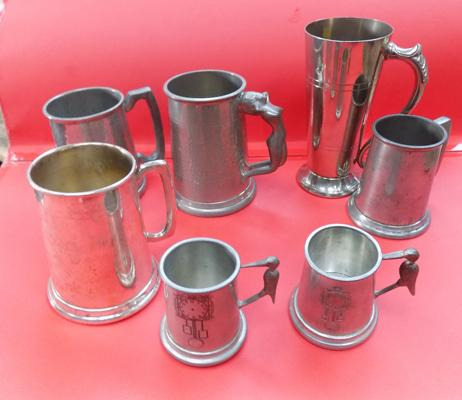 7 assorted tankards