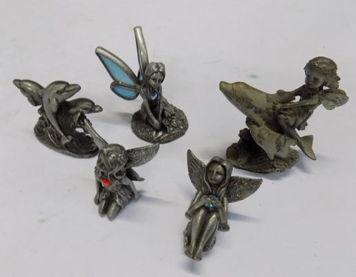 Selection of metal fairy ornaments