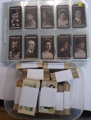 Selection of cigarette cards and mixed selection of cards