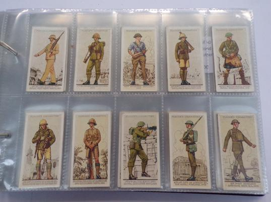 8 full sets of cigarette cards and others