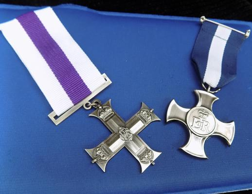 Replacement repro distinguished service cross and military cross
