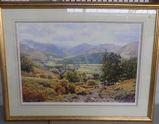 Framed print of Borrowdale by Keith Melling-signed