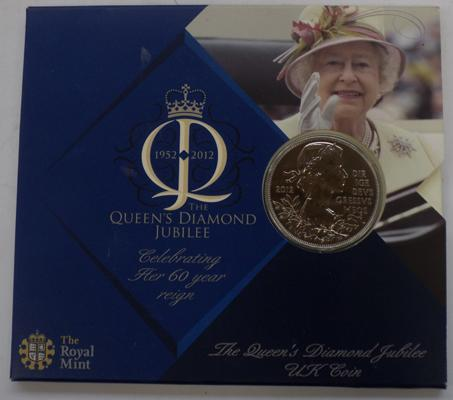 Royal Mint Queens Diamond Jubilee collectors £5 coin in original pouch