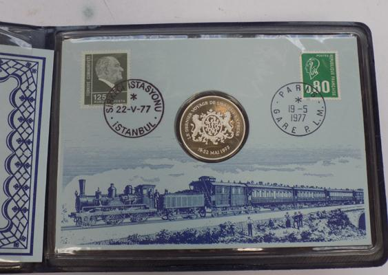 The last run of the Orient Express collectors coin & stamps set