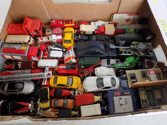 Box of diecast - incl. fire engine collection incl. Franklin mint
