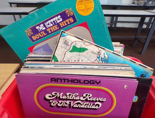 Box of mixed records mainly Motown