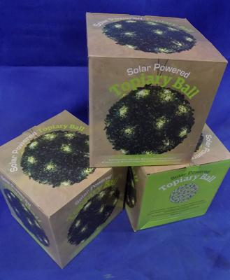 3 solar powered Topiary balls - boxed