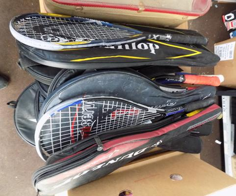 Selection of tennis rackets