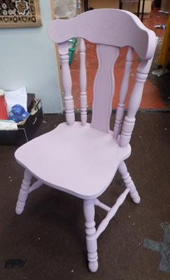 Solid Pine Chair - chalk paint