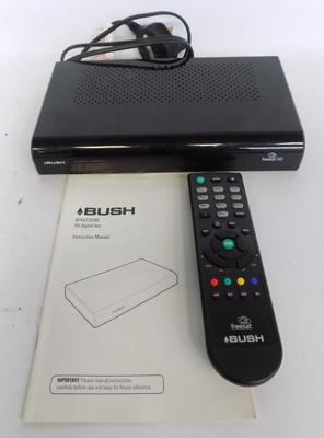 Bush free digital Sat box with remote and instructions