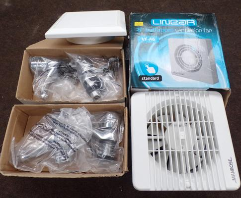 New bathroom ventilation fan & boxes of taps w/o
