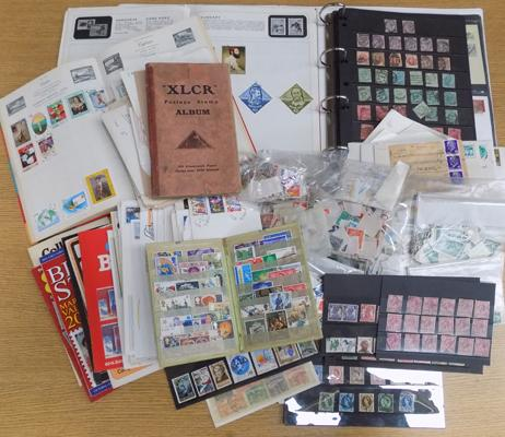 Selection of stamps and stamp albums