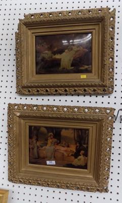 "Pair of Victorian crystoleums in original frames. Approx size 13"" x 17"""