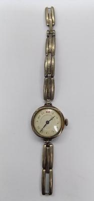 Antique silver hallmarked 925 ladies cocktail watch with sterling silver strap