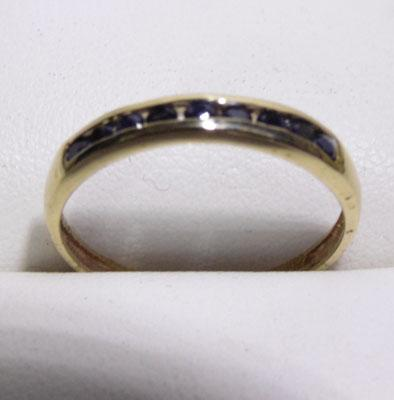 9ct gold chained set diamond ring - size O 1/2