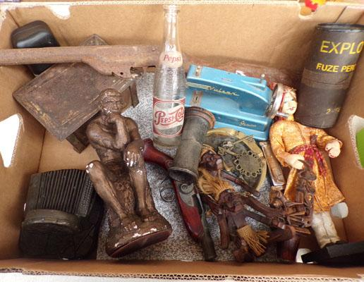 Large box of mixed collectables, incl. vintage items