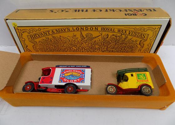 Corgi Ford model T Delivery Vans - boxed