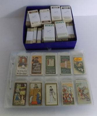 Selection of cigarette cards and trade cards - some full sets