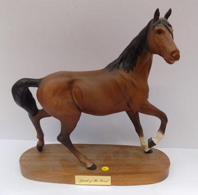 Beswick Spirit of the Wind horse on Wooden plinth