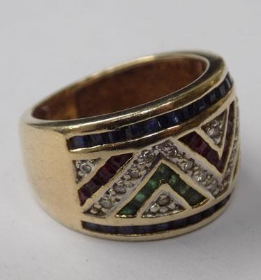 9ct art deco style ring