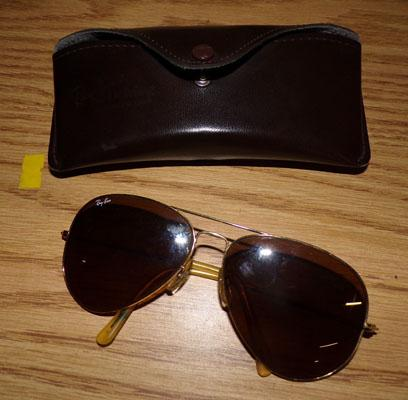 Pair of Ray Bans + case