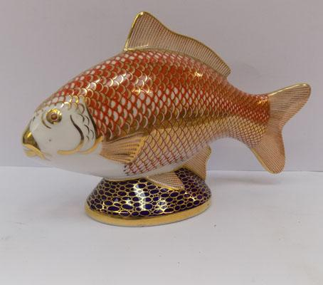 Royal Crown Derby Carp paperweight - no stopper