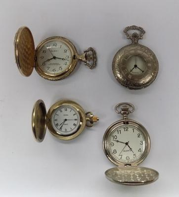 Four cased pocket watches