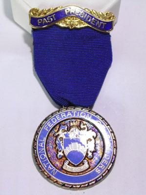 Silver Masonic National Federation of Builders Past President medal