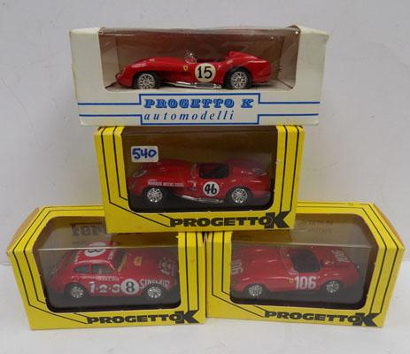 4 Progetto K racing Cars - boxed