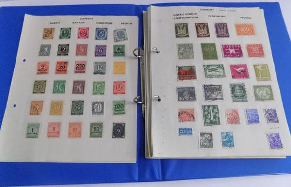 Album of world stamps
