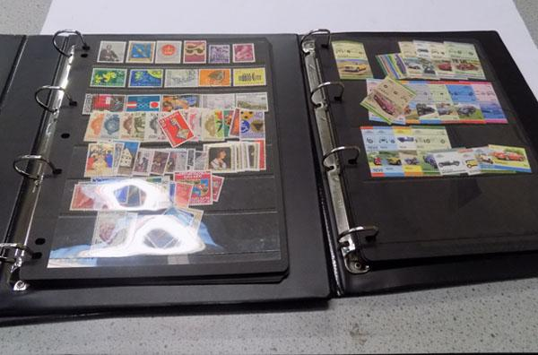 Two folders of stamps incl. mint and used on stock cards