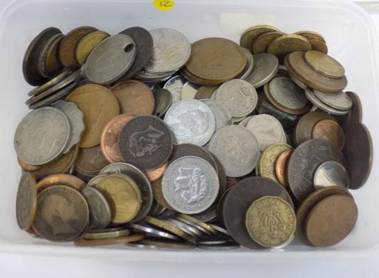 Tub of coins