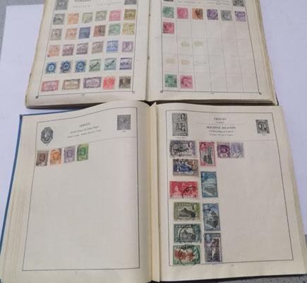Stamps in two old early albums