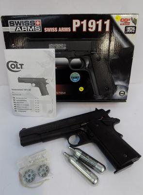 Swiss Arms p1911 gas pistol in box