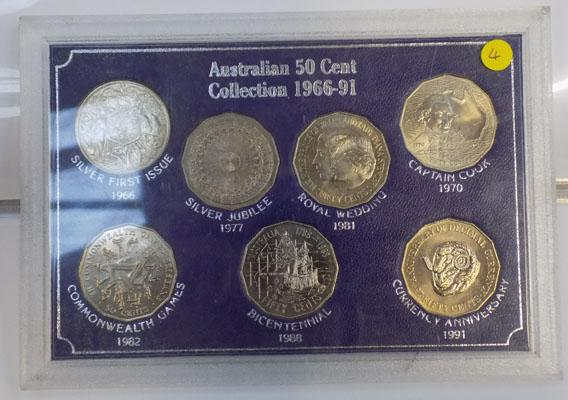 Australia 50cent coin collection including silver