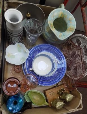 A selection of mixed items including vintage and antique collectables