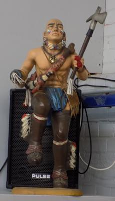 Large Red Indian figure