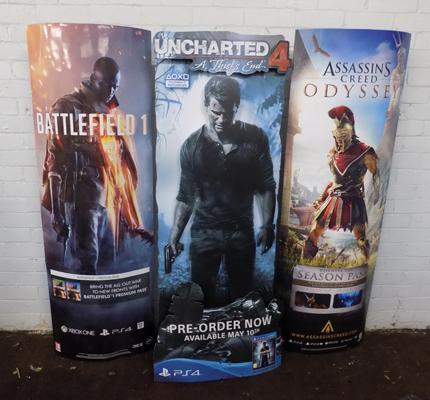 Cinema standing advertising posters - height approx. 62 inches